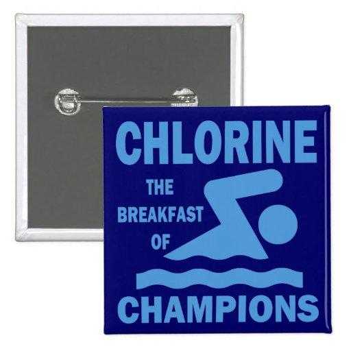 Cloro el desayuno de campeones pin cuadrado