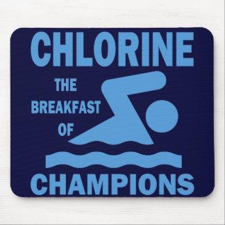 Cloro el desayuno de campeones alfombrilla de raton