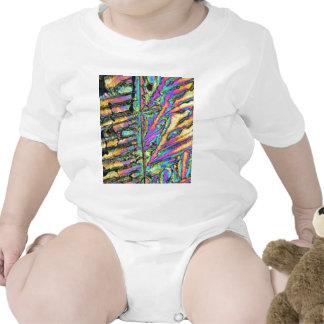 Cloruro del bismuto debajo del microscopio traje de bebé