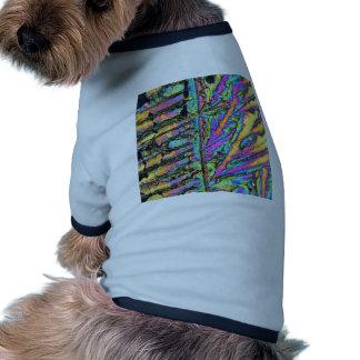 Cloruro del bismuto debajo del microscopio ropa de mascota
