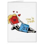 Cloruro sódico tarjeta de felicitación
