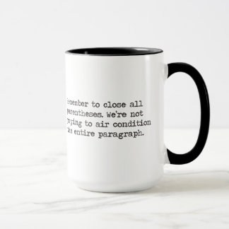 Close all Parentheses Mug