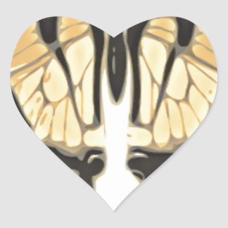 close Butterfly Heart Sticker