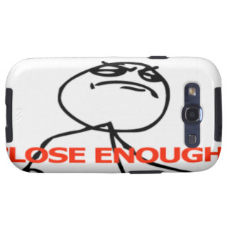 Close enough comic face samsung galaxy SIII cases