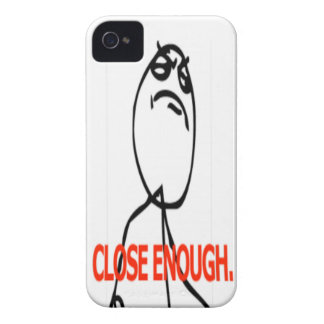 Close enough comic face iPhone 4 cover