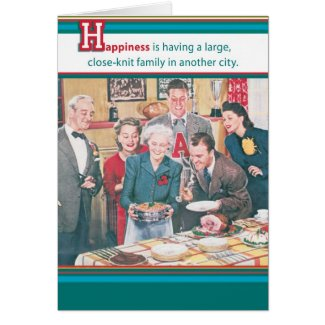 Close-Knit Family in Another city Card