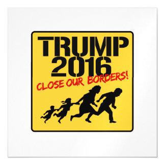 Close Our Borders - Trump 2016 Magnetic Invitations