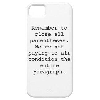 Close Parentheses phone case
