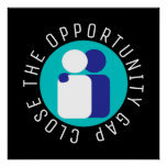 Close the Opportunity Gap Education Reform Poster