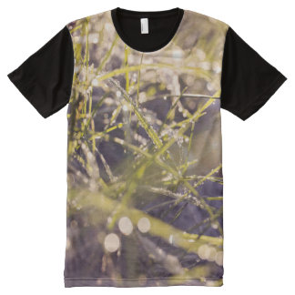 Close to nature dewy grass t-shirt