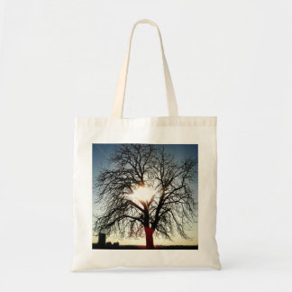 Close to sunset canvas bag