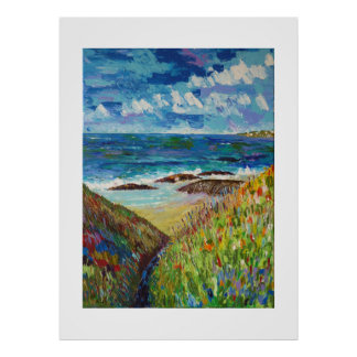 Close to the ocean in Brittany Poster
