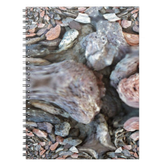 Close Up Abstract of Pebbles Notebook