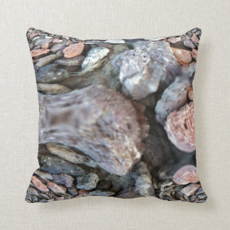 Close Up Abstract of Pebbles Throw Pillow