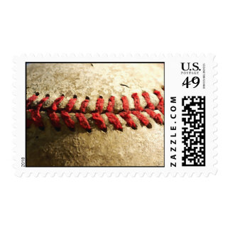 Close-up Baseball Art Photo Stamps