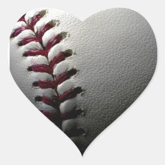 Close-up Baseball Heart Sticker