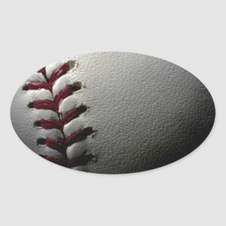 Close-up Baseball Oval Sticker
