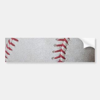 Close-up Baseball Surface Bumper Sticker
