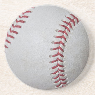Close-up Baseball Surface Drink Coaster