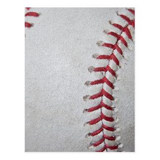 Close-up Baseball Surface Postcard