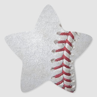 Close-up Baseball Surface Star Stickers