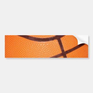 Close up Basketball Bumper Sticker