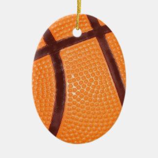Close up Basketball Ceramic Ornament