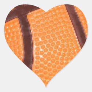 Close up Basketball Heart Sticker
