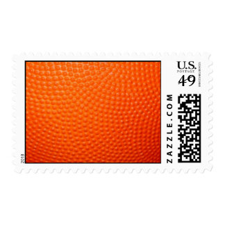 Close-up Basketball Postage Stamp