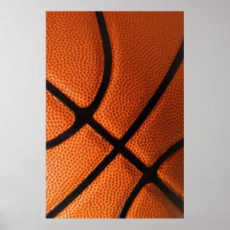 Close-up Basketball Poster