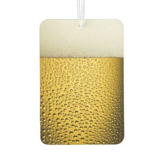 Close Up Beer Glass Air Freshener