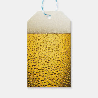 Close Up Beer Glass Gift Tags