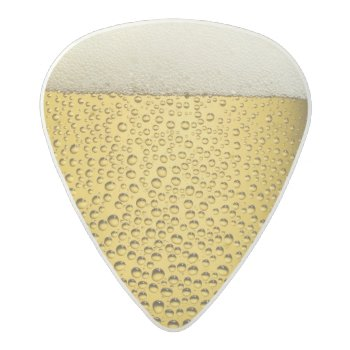 Close Up Beer Glass Guitar Picks by FineDezine at Zazzle