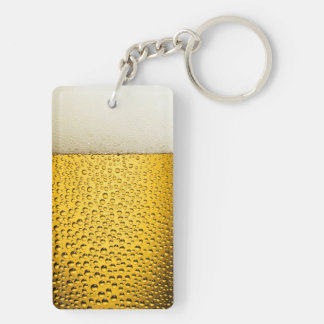 Close Up Beer Glass Keychain
