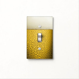 Close Up Beer Glass Light Switch Cover