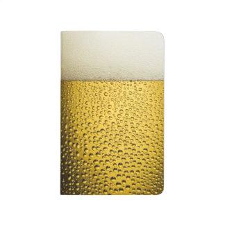 Close Up Beer Glass Pocket Journal