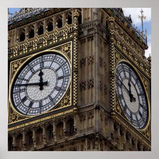 Close up Big Ben Clock Tower London Poster