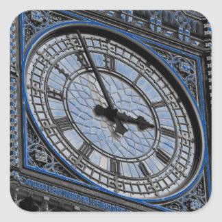 Close up Big Ben Clock Tower Travel Europe Square Sticker