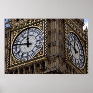 Close up Big Ben London Travel Poster