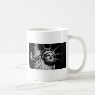 Close-up Black White Statue of Liberty New York Coffee Mug