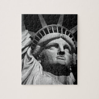 Close-up Black White Statue of Liberty New York Jigsaw Puzzle