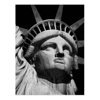 Close-up Black White Statue of Liberty New York Postcard