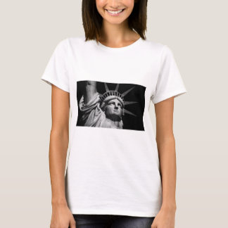 Close-up Black White Statue of Liberty New York T-Shirt