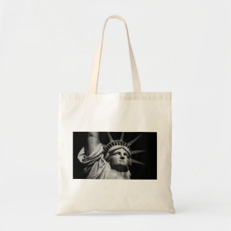 Close-up Black White Statue of Liberty New York Tote Bag