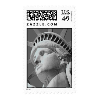 Close-up Black White Statue of Liberty Stamps