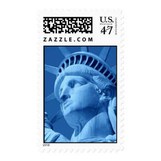 Close-up Blue Statue of Liberty Postage