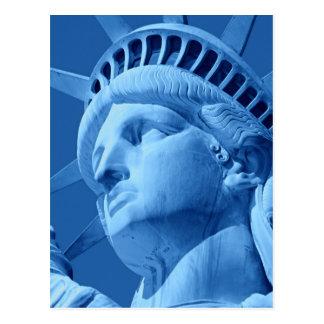 Close-up Blue Statue of Liberty Postcard
