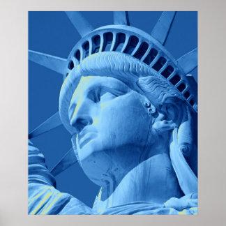 Close-up Blue Tones Statue of Liberty Poster
