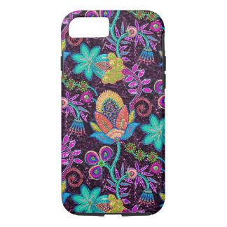 Close-up Colorful Glass Beads Look Retro Flowers iPhone 7 Case