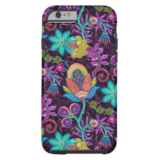 Close-up Colorful Glass Beads Look Retro Flowers Tough iPhone 6 Case